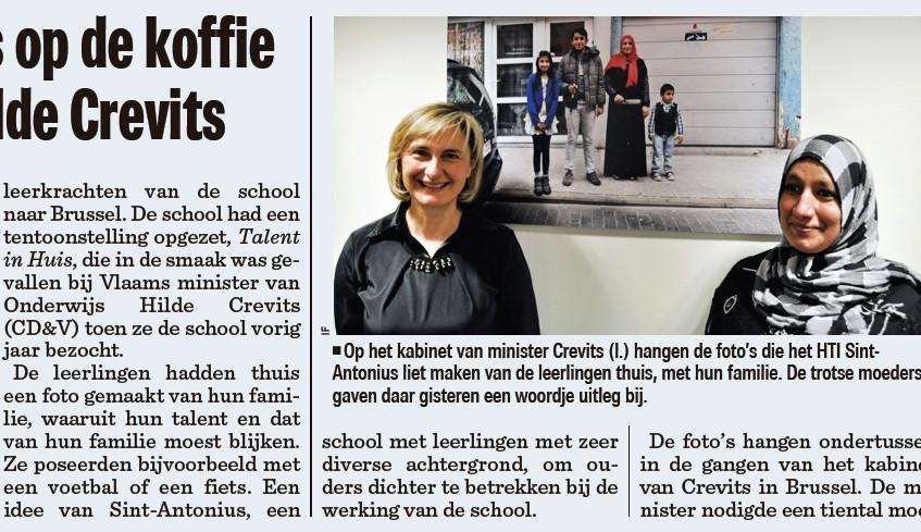 schoolmama's op de koffie bij de miniters Nieuwsblad