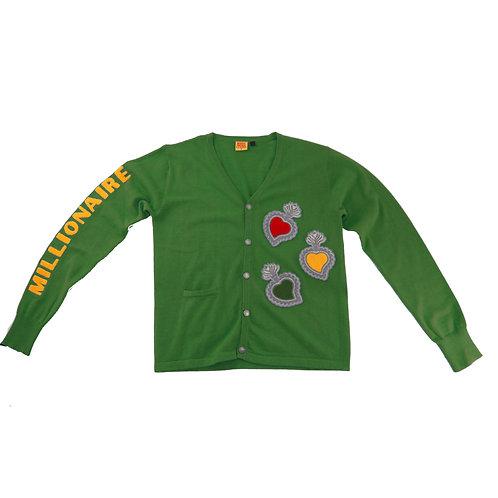 Varsity Cardigan (Green)
