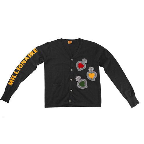 Varsity Cardigan (Black)