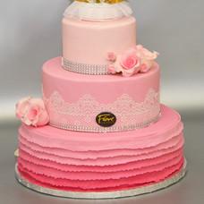 Koronkowy Glamour Różowy
