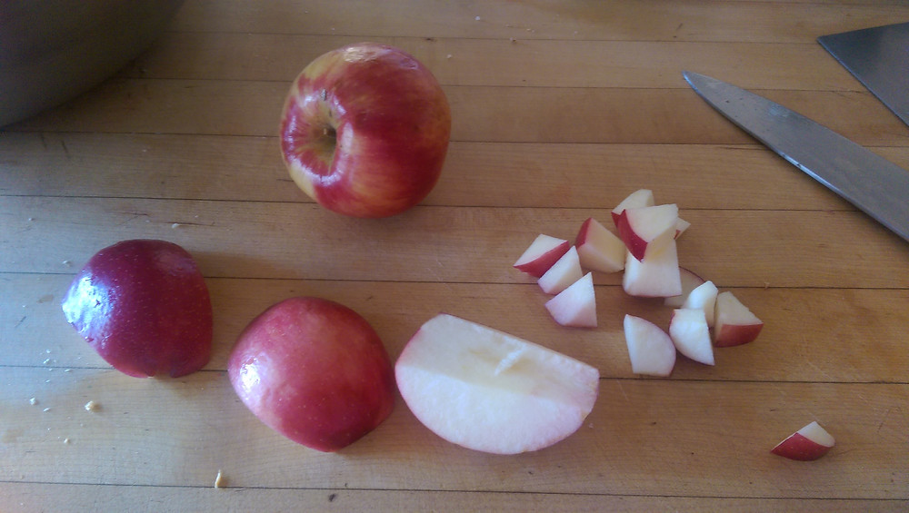 diced organic apples