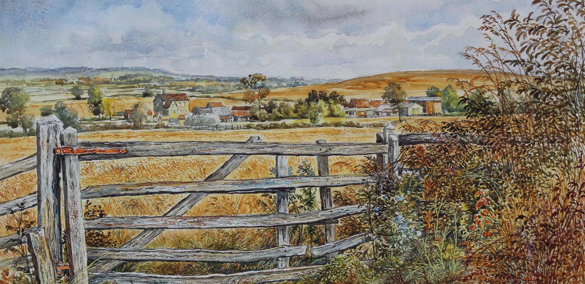 Farm Gate, August 39cm x 30cm.jpg