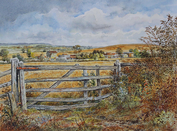 Farm Gate, August 39cm x 30cm.jpg