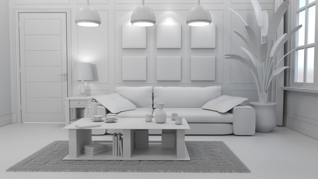 Soft grey - soft lights - soft shadows