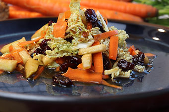 IMG_5288.JPG vegan - Cranberry Birnen Chinakohl Salat mit Möhren