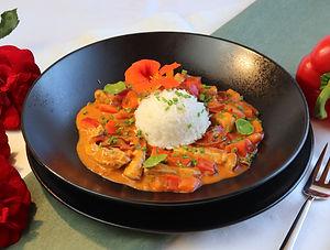 IMG_10230.JPG Satarasch | gesund und köstlich | rote Paprika | Zwiebeln | gesundes Essen | lecker essen