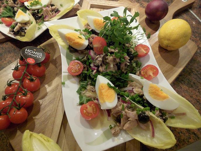 Dijon-Thunfisch-Salat mit Eiern