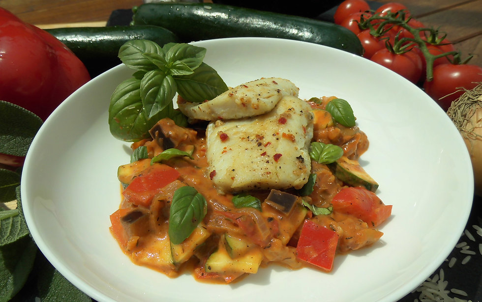 Zander Filet auf Ratatouille