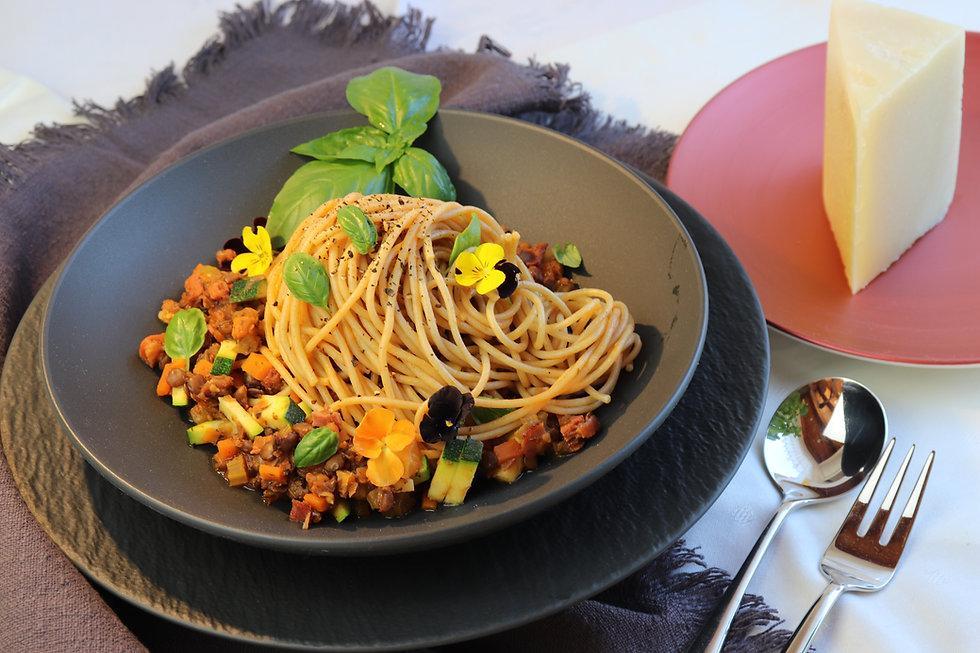 IMG_8273.JPG Spahetti Bolognese mit Linsen   Linsen Bolognese   gesund und köstlich