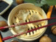 DSCI7786.JPG Chinese Dumplings mit Garnelen und geschmorten Pilzen