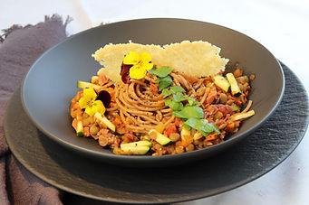 IMG_8480.JPG Spaghetti Bolognese mit Linsen, 3 Personen, ca. 1 Stunde