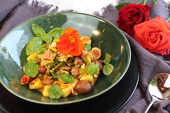 IMG_9636.JPG gesund und köstlich | gnocchi | schnelles Essen | Gnocchis mit Lauch, Pilzen und Hinterschinken