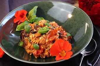 IMG_9662.JPG Aubergine in Tomatensauce | gesund und köstlich | schnelles Essen | gesundes Essen | vegetarisch | gesund