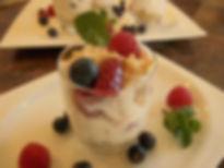Quarkspese Süßspeise Erdbeeren vegetarisch