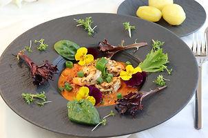 IMG_7336.JPG Riesengarnelen in würziger Frühlingszwiebel Tomatensoße