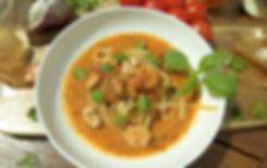 Meeresfrüchte inTomatensoße, Frutti di Mare in Tomatensoße