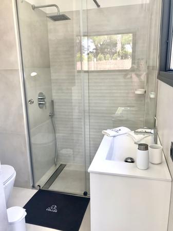 Baño de lujo con ducha