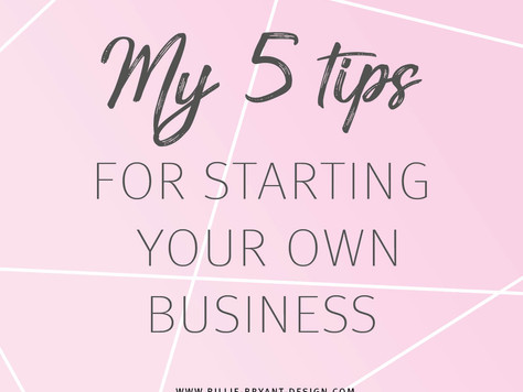 My 5 tip to start your own business