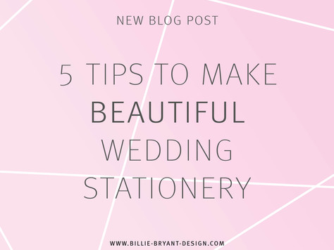 5 Tips to Make Beautiful Wedding Stationery