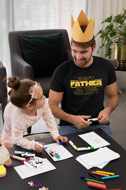 Camiseta Masculina Geek Star Wars Melhor Pai Da Galáxia