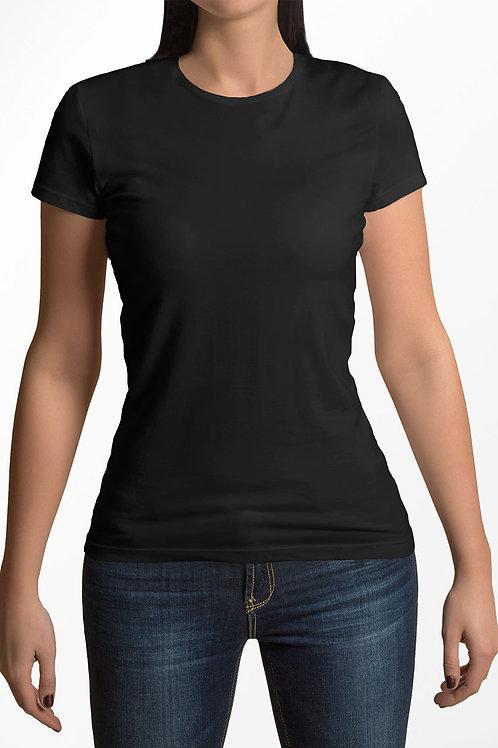 Camiseta Feminina Básica Preta - Moda Blogueira