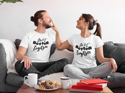 Kit Presente Dia Dos Namorados Better Together 2 Camisetas