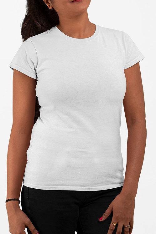 Camiseta Feminina Básica Branca - Moda Blogueira