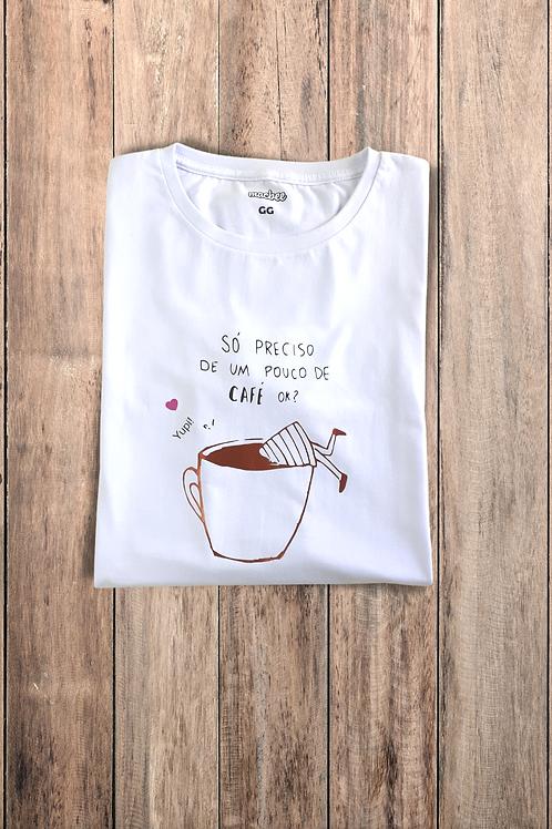 Camiseta Tshirt Baby Look Café