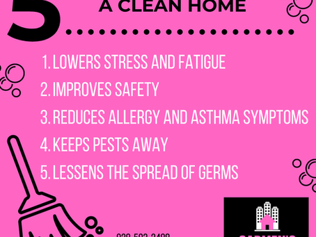 The Health Benefits of A Clean Home