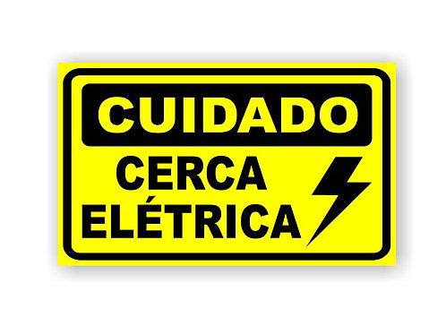 Placa de Advertência p/ Cerca Elétrica