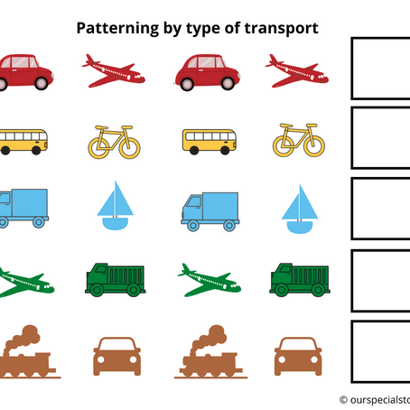 Patterning with Vehicles!