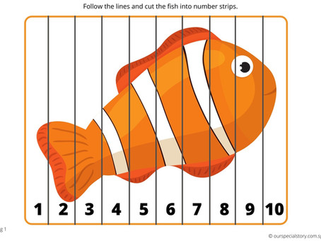 Sequence 1 to 10 to Create Sea Creatures!