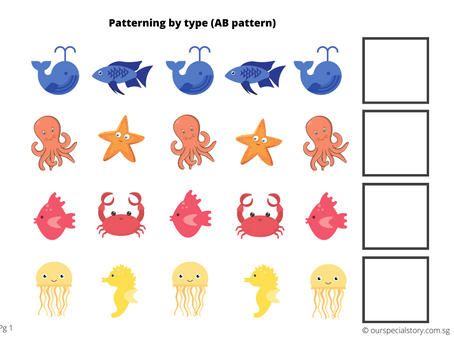 Patterning with Sea Creatures!