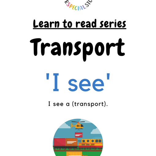 Learn to read series: Transport theme!