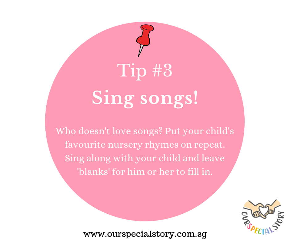 Improve speech- Sing songs!