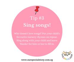 Improve speech- Sing songs!