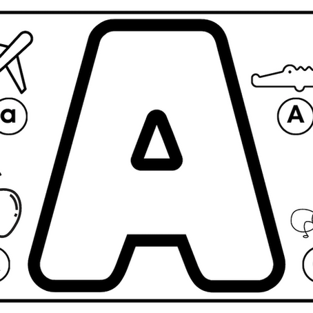 Colouring with Alphabets!