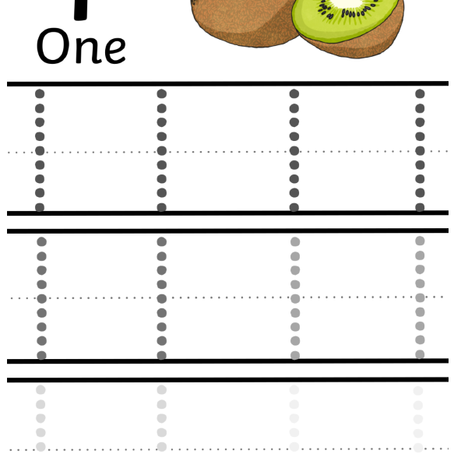 Trace Numbers with Fruits!