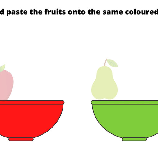 Cut and Paste Fruits!