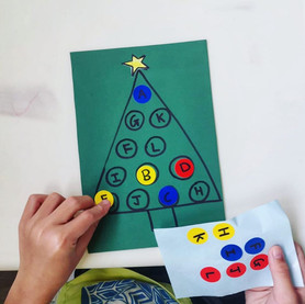 Christmas tree- Matching letters