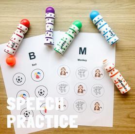 Practice speech sounds!