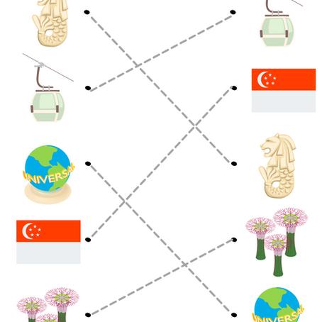 Singapore theme Matching Worksheets!