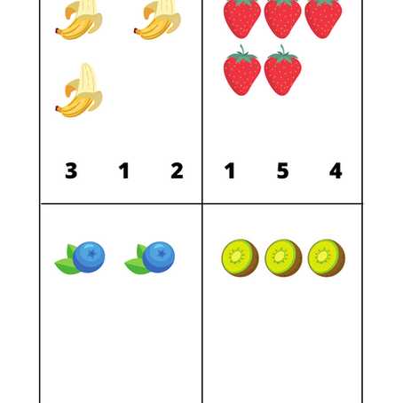 Counting time - circle, match and write numbers