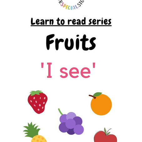 Learn To Read Series: Fruits theme!