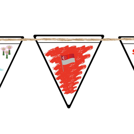 Get ready for National Day- Design your own buntings!