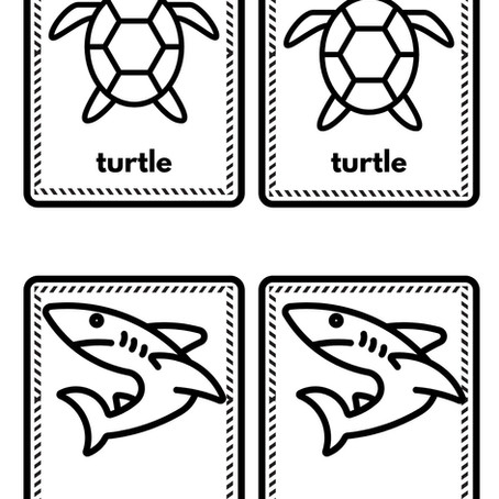 DIY Sea Creatures Game Cards!