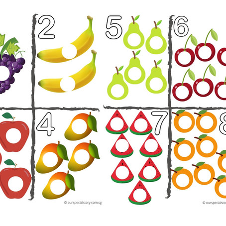 Counting Fruits from 1-10!