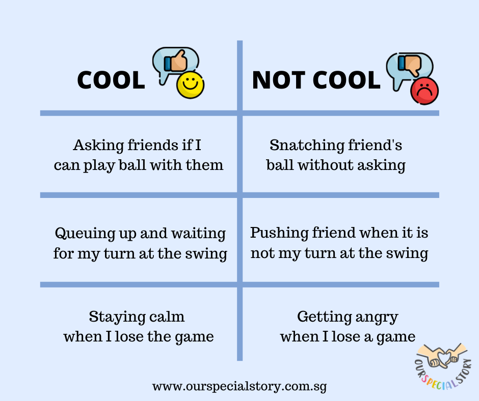 Social skills: cool vs not cool