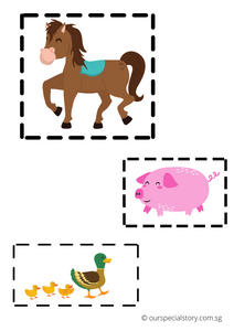 Cut and paste printable (our special story)
