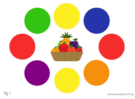 Matching Colours and Words with Fruits!